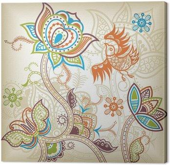 Tableau sur Toile Oiseau floral oriental