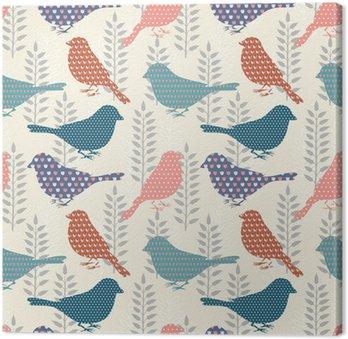 Tableau sur Toile Oiseaux, seamless