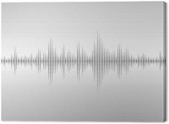 Tableau sur Toile Ondes sonores abstraites