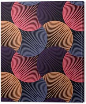 Tableau sur Toile Ornement géométrique pétales Grille, Abstract Vector Seamless Pattern