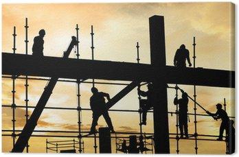 Tableau sur Toile Ouvrier de chantier