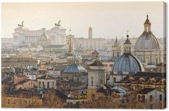 Tableau sur Toile Panorama de la vieille ville de Rome, Italie