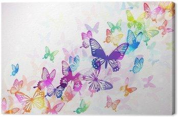 Tableau sur Toile Papillon 々