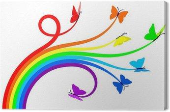 Tableau sur Toile Papillons arc-en-