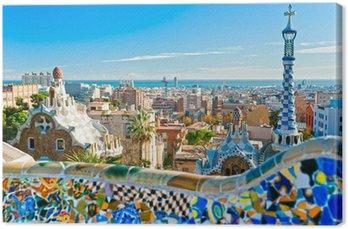 Tableau sur Toile Parc Guell à Barcelone, en Espagne.
