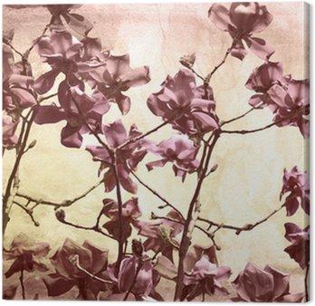 Tableau sur Toile Parcours artistique avec Magnolia