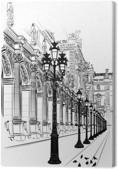 Tableau sur Toile Paris: l'architecture classique