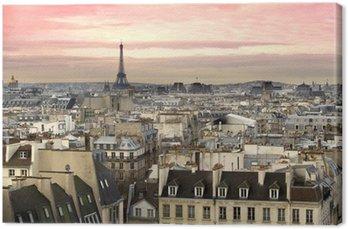 Tableau sur Toile Paris Tour Eiffel vue