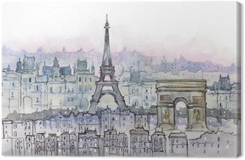 Tableau sur Toile Parisiens