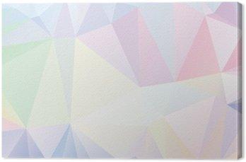 Tableau sur Toile Pastel Polygon géométrique