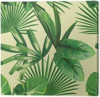 Tableau sur Toile Paume tropical feuilles de fond sans soudure