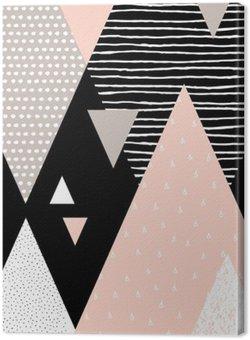 Tableau sur Toile Paysage abstrait géométrique
