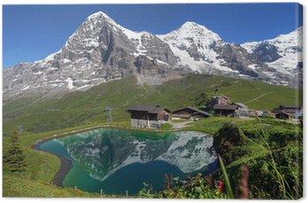 Tableau sur Toile Paysage Alpes suisses