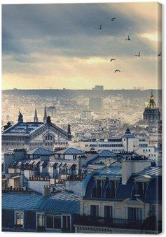 Tableau sur Toile Paysage urbain de Paris prise de Montmartre