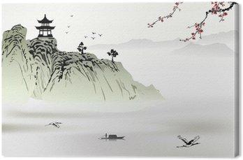 Tableau sur Toile Peinture de paysage chinoise