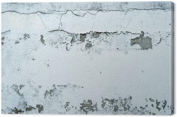 Tableau sur Toile Peinture écaillée sur un mur de pierre
