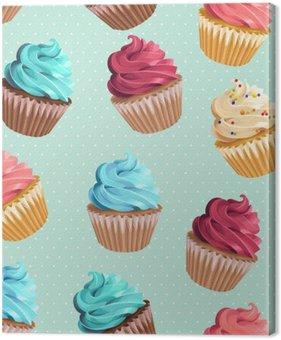 Tableau sur Toile Petits gâteaux sans soudure et à pois