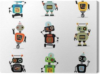 Tableau sur Toile Petits robots set 3