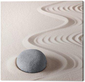 Tableau sur Toile Pierre de méditation zen