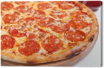 Tableau sur Toile Pizza Diavola salamy
