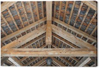 Tableau sur Toile Plafond en bois.