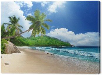 Tableau sur Toile Plage à l'île de Mahé, Seychelles