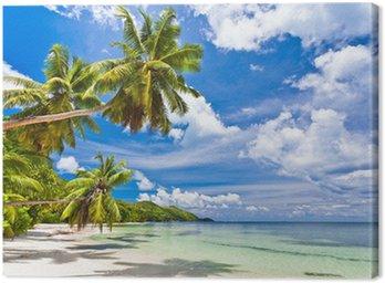 Tableau sur Toile Plage aux Seychelles