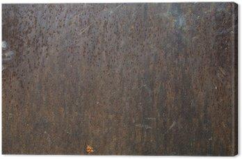 Tableau sur Toile Plaque vieux grunge rugueux fer oxidazed surface métallique corrodé
