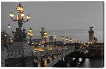 Tableau sur Toile Pont Alexandre III, Paris, France