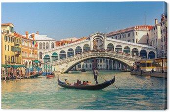 Tableau sur Toile Pont du Rialto à Venise