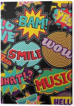 Tableau sur Toile Pop art comique point patch seamless
