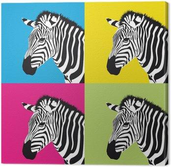 fabulous tableau sur toile pop art zbre with tableau pop art animaux. Black Bedroom Furniture Sets. Home Design Ideas