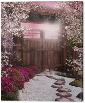 Tableau sur Toile Porte du jardin oriental