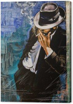 Tableau sur Toile Portrait de l'homme avec une cigarette