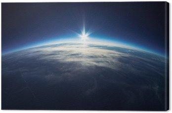 Tableau sur Toile Près de la photographie spatiale - 20 km au dessus du sol / real photo