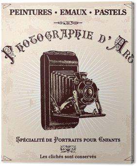 Tableau sur Toile Publicité ancienne d'ONU photographe