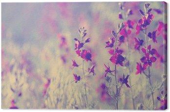 Tableau sur Toile Purple fleurs sauvages