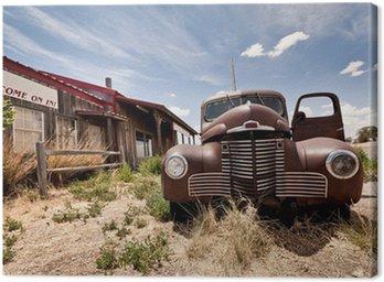 Tableau sur Toile Restaraunt abandonné sur la route 66 route aux Etats-Unis
