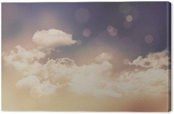 Tableau sur Toile Rétro nuages et fond de ciel