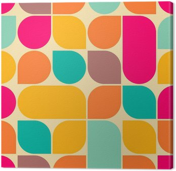 Tableau sur Toile Retro seamless abstraite