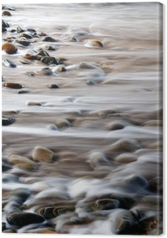 Tableau sur Toile Roches abstraites et de l'eau sur le littoral