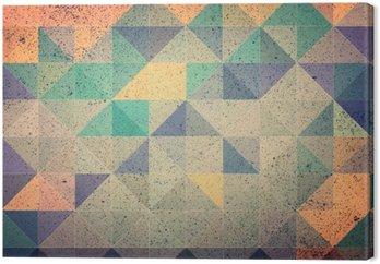 Tableau sur Toile Rose et violet triangle abstrait illustration