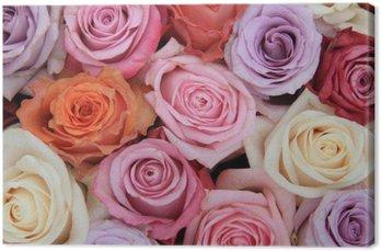 Tableau sur Toile Rose pastel fleurs de mariage