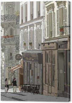Tableau sur Toile Rue à Montmartre