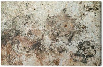 Tableau sur Toile Rugueuse vieux mur brun