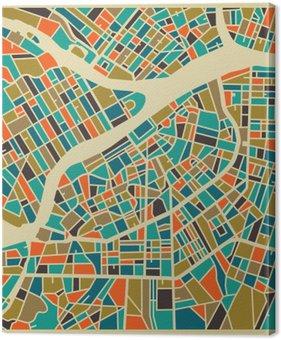 Tableau sur Toile Saint-Pétersbourg carte vectorielle. Colourful base de design vintage pour carte Voyage, de la publicité, cadeau ou une affiche.