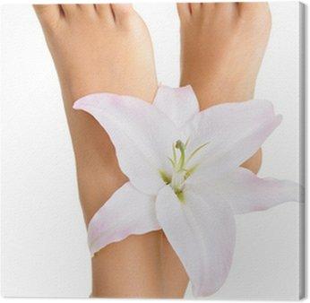 Tableau sur Toile Santé et élégant pieds féminins