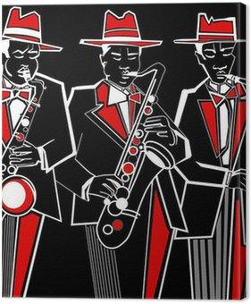 Tableau sur Toile Saxophonistes