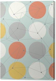 Tableau sur Toile Scandinavian seamless moderne géométrique