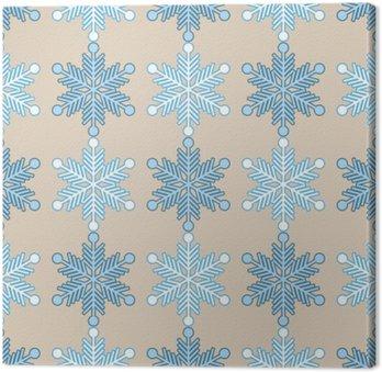 Tableau sur Toile Seamless avec des flocons de neige. Impression. Répétition de fond. conception de tissu, papier peint.